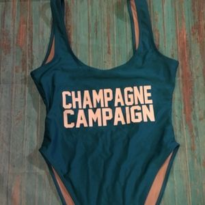 New PRIVATE PARTY Champagne Campaign Swimsuit
